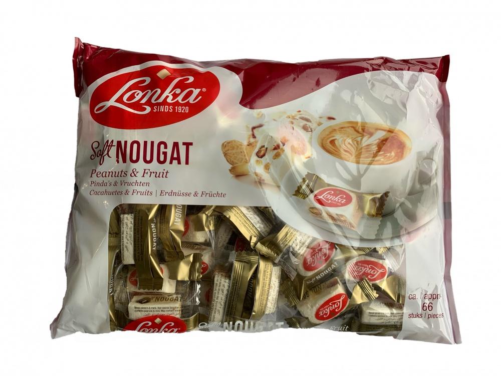 Lonka soft nougat peanuts & fruit
