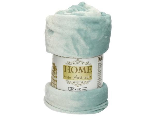 Fleece deken aqua groen