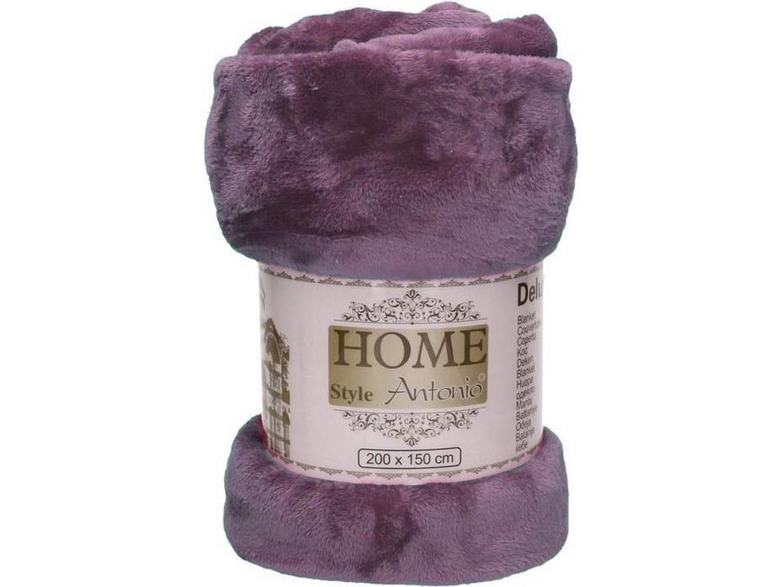 Fleece deken paars