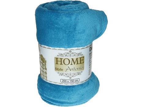 Fleece deken flanel blauw