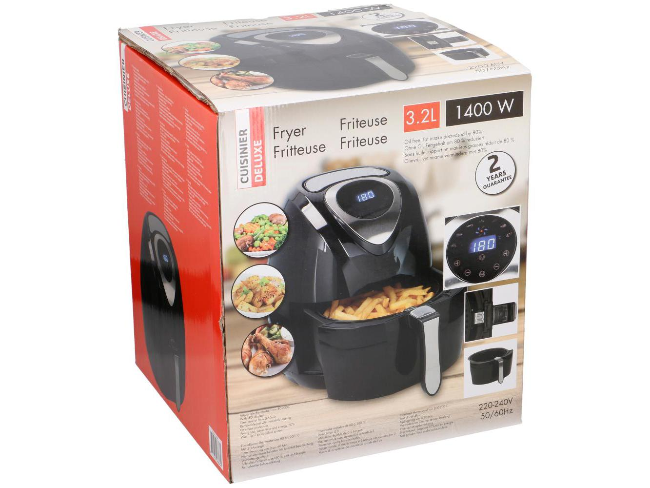 Cuisinier DeLuxe Air Fryer Digitaal