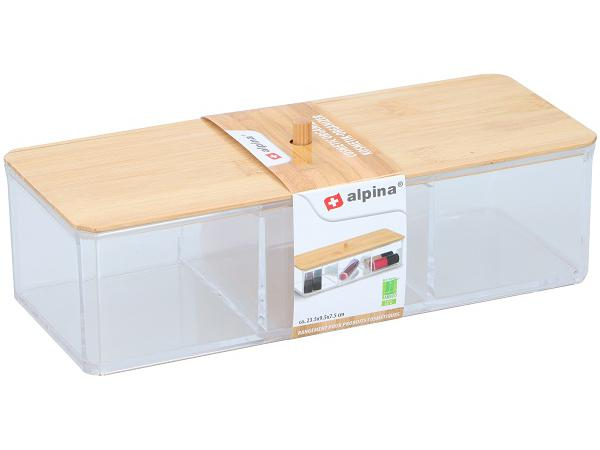 Alpina Make-Up Organizer Bamboe