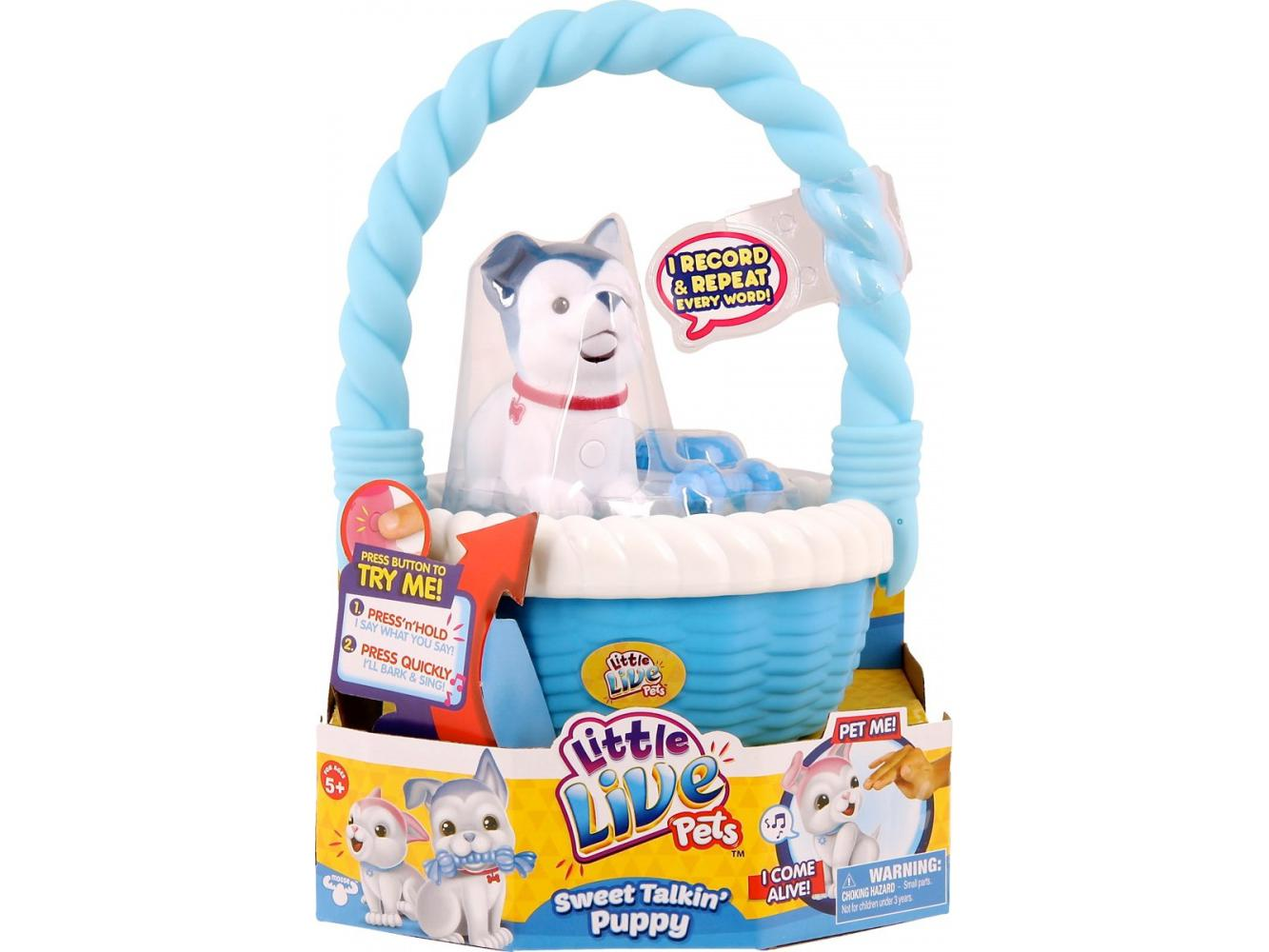 Little Live Pets Hond Blossy met Mand