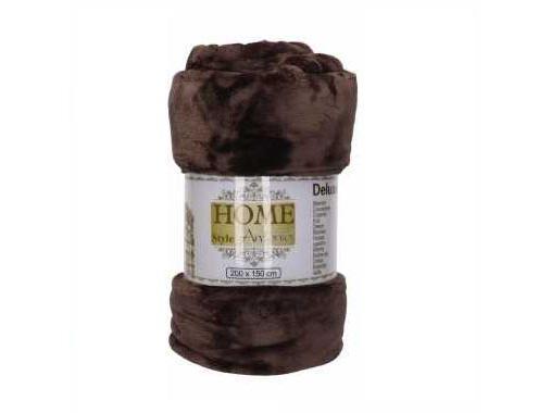 Fleece deken flanel bruin