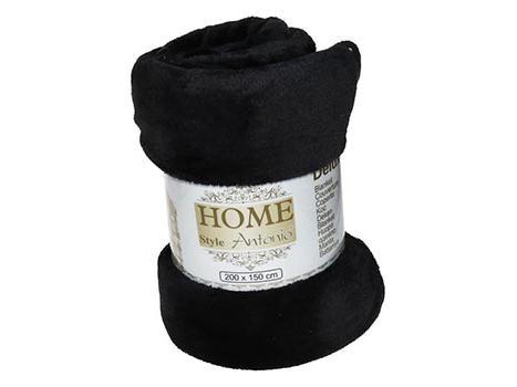 Fleece deken flanel zwart