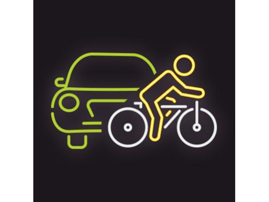 Auto, aanhanger en fiets