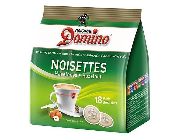 Domino Hazelnoot 18 Koffiepads
