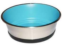 Bubimex Edelstalen voederbak 1,2L blauw