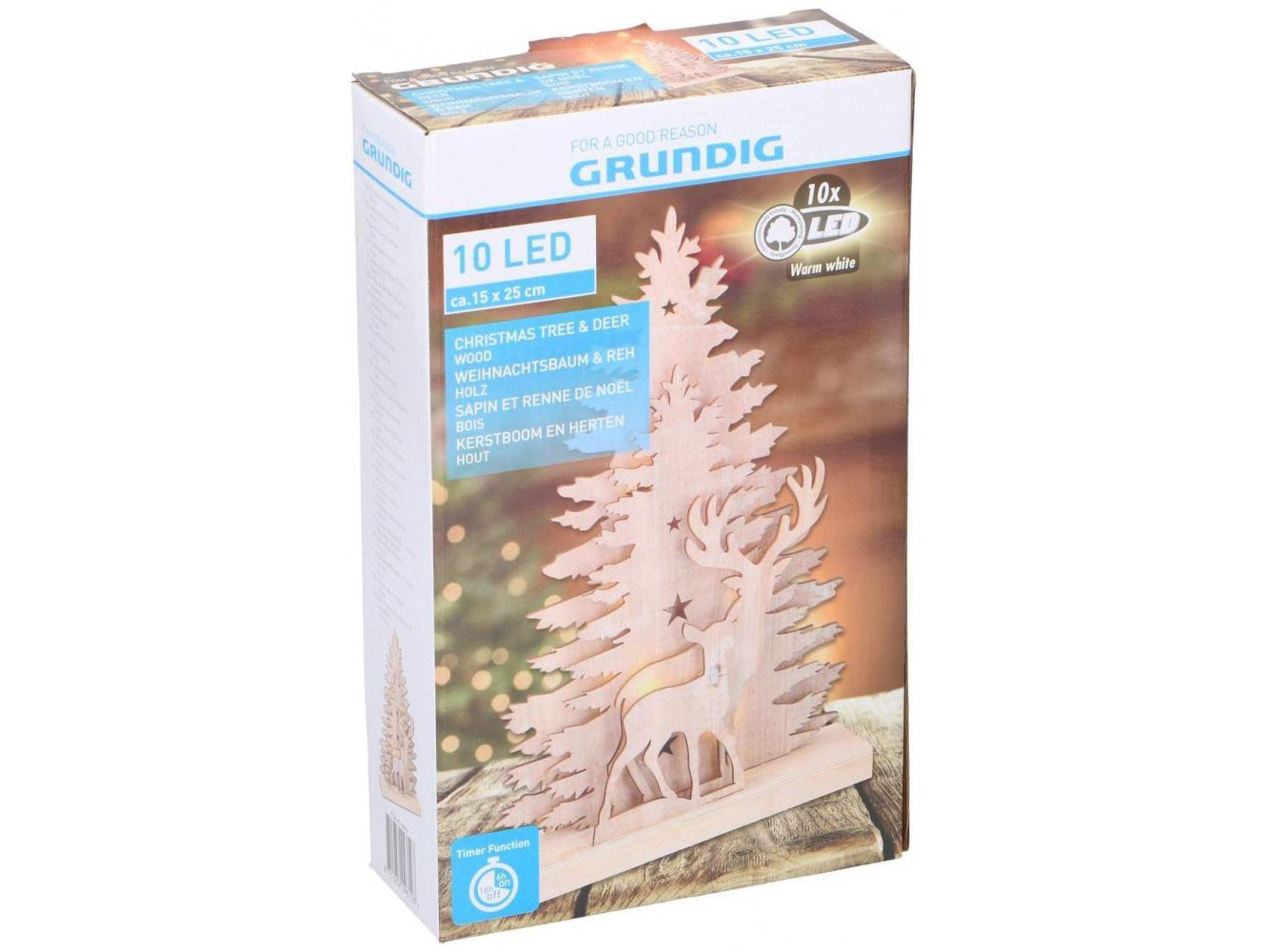 Grundig Kerstboom en Herten 15x25