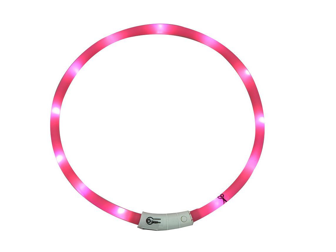 Bubimex Led siliconen lichtslang roze