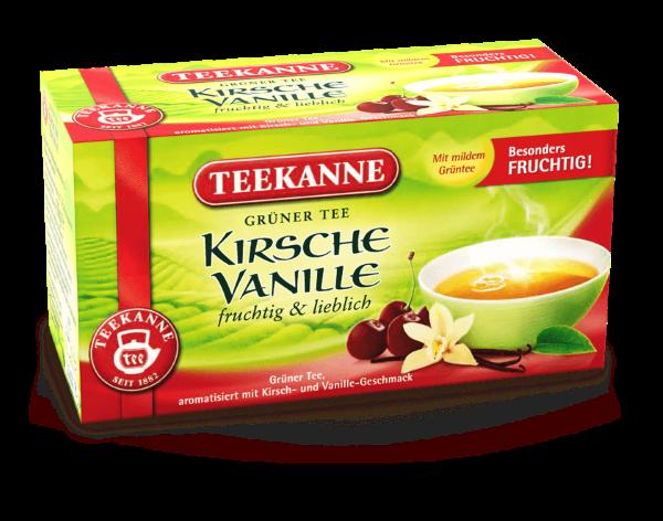 Teekanne Grüner Tee Kirsche Vanille